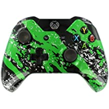 """Splash Green"" Xbox ONE Custom UN-MODDED Controller w/Custom Painted"