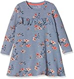 NAME IT Baby-Mädchen Kleid NMFDABILLE LS Dress, Mehrfarbig (Flint Stone), 92