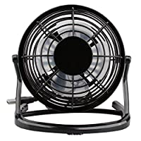 88AMZ Mini Portable USB Powered Computer, Laptop, PC Cooling Desk Table Fan, Powerful Small Personal Portable Fan for Home Office Outdoor Travel (Black)