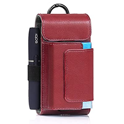 E-Cigarette Case, MoKo PU Leather E-cig Holder Travel Case for Electronic Cigarette & Accessories, Portable Vape Case Organizer E-Juice Pouch Bag