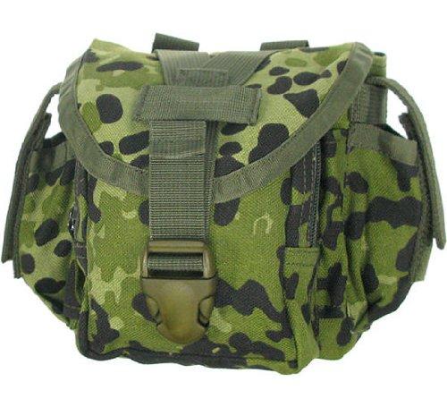 BE-X Modulare Feldflaschenhülle für 1l Armeefeldflaschen, mit Seitentasche - dänisch tarn
