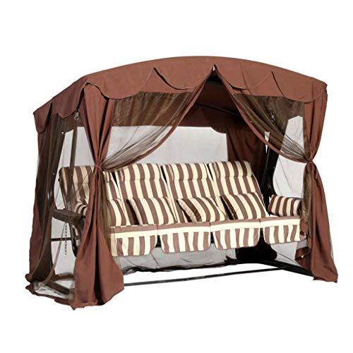 Schaukelstuhl Outdoor-Vier-Personen-Stuhl, wasserdichtes Sonnenschutzgitter-Zelt-Schaukel-Gartenschaukelstuhl