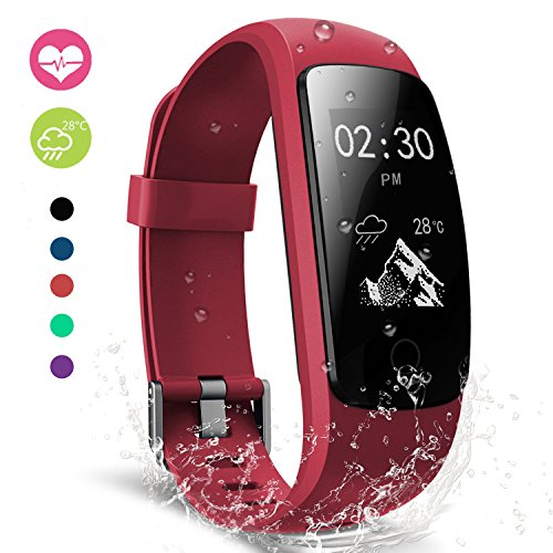 Fitness Tracker, moreFit Slim Touch Activity Tracker Orologio Cardiofrequenzimetro Impermeabile IP67 Cardio Frequenzimetro Pedometro Bluetooth Smart Watch Braccialetto Wristband da Polso Donna Uomo
