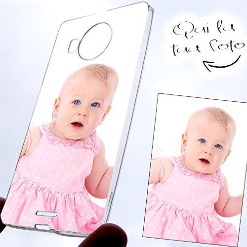 Pieffeline  custodia cover in silicone antishock personalizzata con foto per microsoft nokia lumia 950 xl