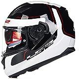 CHB Outdoor Riding Helmet Street Bike Racing Collision Helm Doppel Lens Motorrad-Helm Locomotive Racing Full Helm mit Airbag-socken,003,XL