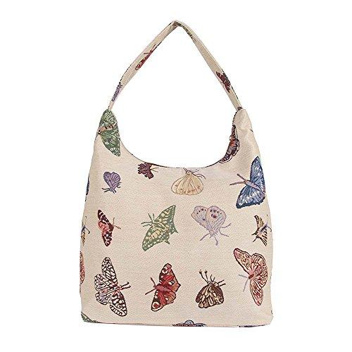 Signare besace sac d'épaule tapisserie mode femme Papillon