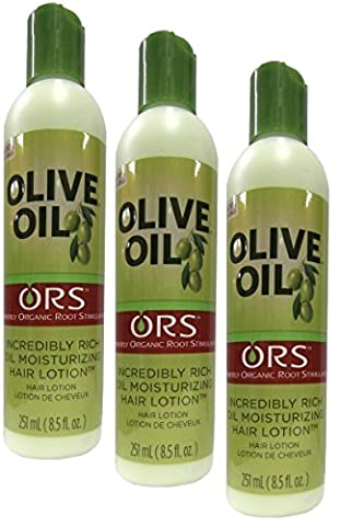 3x Organic Root Stimulator Olive Oil Moisturizing Hair Lotion 316ml (insgesamt - 948ml)