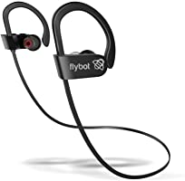 Flybot Sport Deep Bass in-Ear Wireless Bluetooth Earphone with Mic, Qualcomm Chipset, IPX7 Waterproof - (Black)