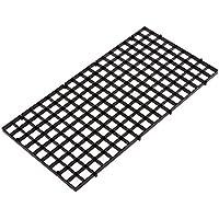 Dabixx Juego de separador de acuario para acuario, con ventosa, plástico, negro, 30x15 cm
