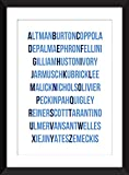 Best directores Poster - Film Director Alphabet Unframed Typography Print / Sin Review