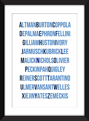 Film Director Alphabet Unframed Typography Print - Ohne Rahmen - Art Print Terry