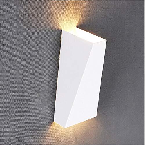 LPER Wandmontage Lampe, Einfaches und elegantes Design 10W Eisen-Aluminium-Kopfenden-Leselicht-Up und Down Badezimmer Korridor Dekoration Lampe, Farbtemperatur: White Light (weiß) (Farbe : Black)