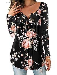 NEU Hailys Damen Hemdbluse Bluse Print Blusenshirt Shirt Tunika Color Mix