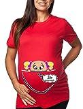 """T-shirt lunga da donna ideale per il premaman """"STO ARRIVANDO BIMBA"""" stampa divertente by tshirteria - t-shirteria - amazon.it"""