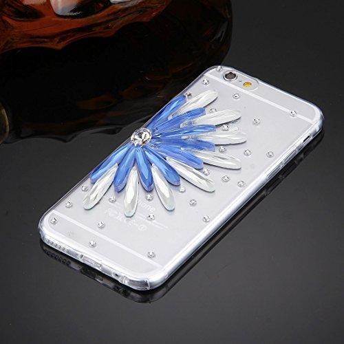 Wkae Case & Cover Pour iPhone 6 &6s Motif diamant Encrusted Lunettes Cat Perle de Bell souple TPU étui de protection Quatrième de couverture ( SKU : IP6G5600B ) IP6G5600F