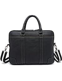 Bolsos de hombres Xinmaoyuan nostálgico de hombres de negocios artesanales bolsa bolso de cuero bolsa de ordenador Retro Sección transversal