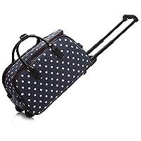 Ladies Travel Holdall Bags Hand Luggage Womens Horse PrintWeekend Wheeled Trolley Handbag