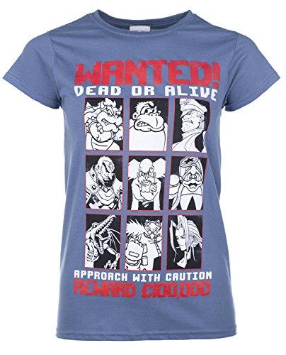 Preisvergleich Produktbild TruffleShuffle Gaming Villains Wanted T Shirt Blau Damen