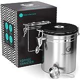 Coffee Gator Boîte à café hermétique - Boite étanche pour la conservation du cafe et de toutes ses saveurs, Acier inoxydable