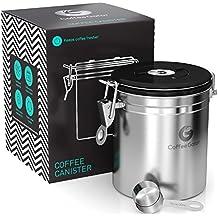 Barattolo caffè ermetico Coffee Gator - Contenitore in acciaio inox per conservare il caffè e (Jar Kitchen Decor)