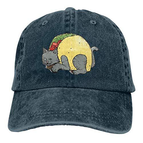 Cowboy Hat Taco Cat Cute Denim Skull Cap Baseball Cowgirl Sport Hats Men Women Cowgirl Cadet Cap