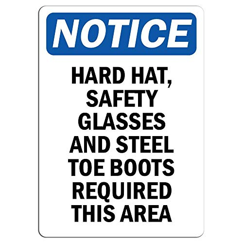 Wise Degree Metal Poster Notice Hard Hat, Safety Glasses and Steel Toe Boots Driveway Metall Poster Wand Küche Kunst Cafe Garage Shop Bar Dekoration