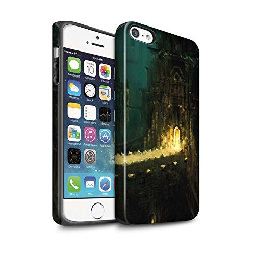 Offiziell Chris Cold Hülle / Matte Harten Stoßfest Case für Apple iPhone 5/5S / Tränen der Eva Muster / Gefallene Erde Kollektion Dragonfel Tempel