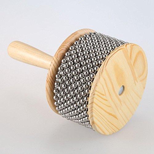 Naliovker Holz Cabasa Perkussion Band Student Kinder Kind Instrument Hand ruettler gross