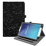 Fintie Hülle für Samsung Galaxy Tab E T560N / T561N (9,6 Zoll) Tablet-PC - Multi-Winkel Betrachtung Kunstleder Schutzhülle Etui mit Dokumentschlitze und Auto Schlaf/Wach Funktion, Sternbild