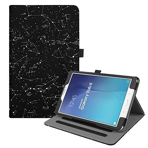 Fintie Hülle für Samsung Galaxy Tab E 9.6 T560N / T561N (9,6 Zoll) Tablet-PC - Multi-Winkel Betrachtung Kunstleder Schutzhülle Etui mit Dokumentschlitze & Auto Schlaf/Wach Funktion, Sternbild
