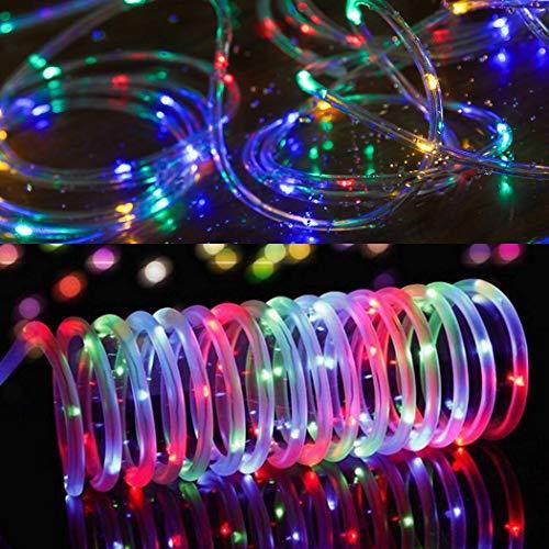 Yukio Festival - 50 LED Garten Lichterkette, Wasserdicht IP60 Led Lichtschlauch,Außenlichterkette, LED Lichterketten Für Hochzeit, Party und Weihnachten, Weihnachtsbeleuchtung (Zaun Weave Weiß)