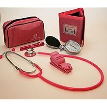 Set con medidor de presión sanguínea manual, estetoscopio, bolígrafo con linterna ...