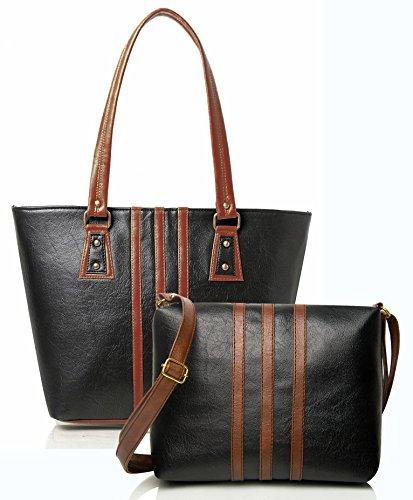 50abd3c3fea8  Sponsored Mammon Women Handbag And Sling Bag Combo (HS-combo-3stripblk