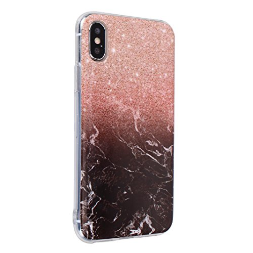 2 x iPhone X Schutzhülle, Rosa Schleife iPhone 10 Ultra Dünn TPU Backcover Weiche Silikon Cases Cover Marmor Hülle Kratzfest Handyhülle Schale Bumper für iPhone X / 10 3 Stück - 2