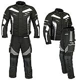 (ST02-Tuta da moto in Cordura tessili CE Tuta da moto, modello da uomo, colore: grigio