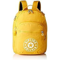 Kipling CLAS SEOUL Mochila escolar, 45 cm, 25 litros, Amarillo (Lively Yellow)