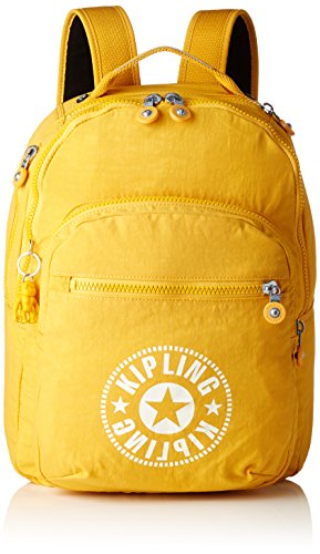 Mochila Kipling amarilla, ideal para estudiantes 45 cm, 25 litros