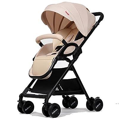 NAUY @ Baby Trolley Alto Paisaje Se Puede Mentir Ultra-ligero Portátil Plegable De 1 a 3 Años De Bebé Niño Ampliado Alargado De Dos Vías Carro De Bebé Paragolpes Carro Trolley Aluminio Alloy Oxford Te