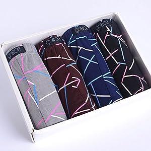 ZHFC-(4 – er packung unterwäsche männer aus baumwolle hosen 100 & 37; baumwolle unterhosen taille boxer baumwolle vier ecke mode – hose