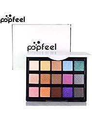 KIMODO Kosmetik Matte Lidschatten Creme Make-up Palette Schimmer Set 15 Farben Lidschatten