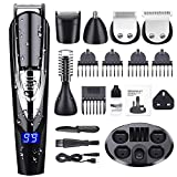 Beard Trimmer Kit for Men, ADOKEY 10 in 1 Waterproof Hair Clippers Beard Trimmer Shaver Body Trimmer Nose Hair Trimmer Precision Trimmer Rechargeable Waterproof Cordless Multifunctional Grooming Kit
