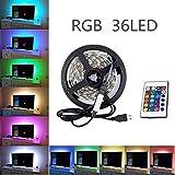 TV LED Beleuchtung LED Stripe 1.2 M XAGOO RGB USB Betriebenem mit Fernbedienung