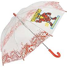 Paraguas kukuxumusu Infantil Transparente Iron Man