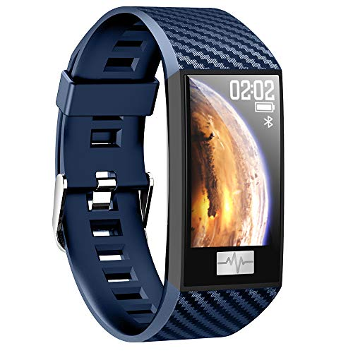 TechCode Aktivitätstracker mit Blutdruckmessung Pulsmesser,Bluetooth Smartwatch Fitness Tracker Sport Armband mit Kalorien/Schlafüberwachung Wasserdicht IP68 Sportuhr für Kinder Herren Damen Geschenk