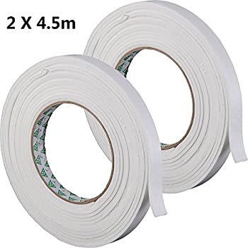Foam Draught Excluder 5m Weather Self Adhesive Strip Waterproof Door Window Seal