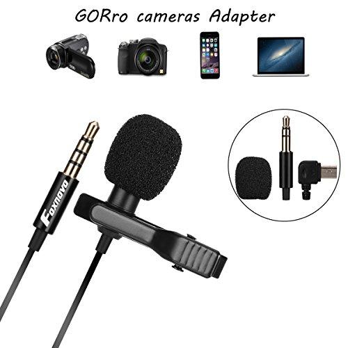 Foxnovo Lavalier, Revers / Ansteck - Mikrofon für iOS und Android - Geräte, Dslr, Kameras, digitale Recorder und Computer