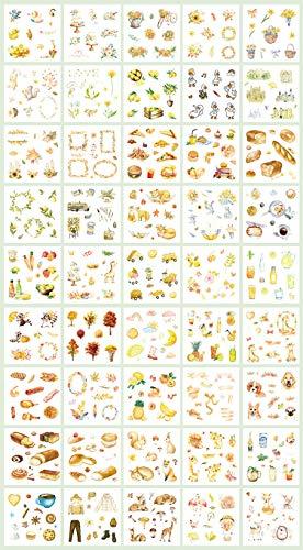 Sticker Set Scrapbooking Aufkleber für Planer DIY Basteln Scrapbooking Tagebuch Yellow series-yjcp-hs