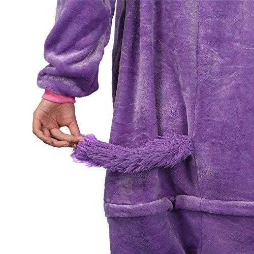 Einhorn Kostüm – Jumpsuit Cosplay, Tier Schlafanzug, Onesie für Erwachsene - 5