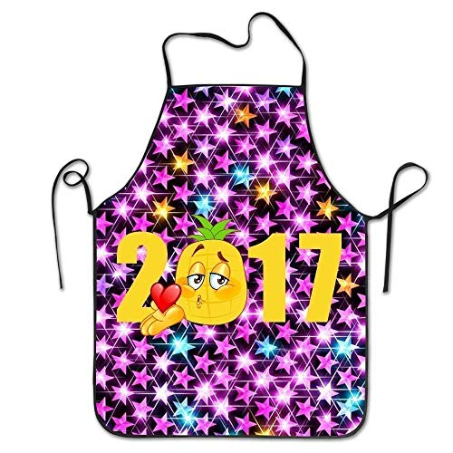 ghnfgxchxfg Christmas Reindeer Adjustable Cooking Apron Kitchen Apron Bib Aprons Chief Apron Home Easy Care for Kitchen, BBQ, and Grill Chief Bib