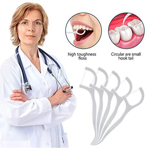 SMILEQ® 50 stücke Zahnseide Picks Zähne Zahnstocher Stick Zahnreinigung (weiß)
